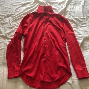 Red VanHeusen dress shirt